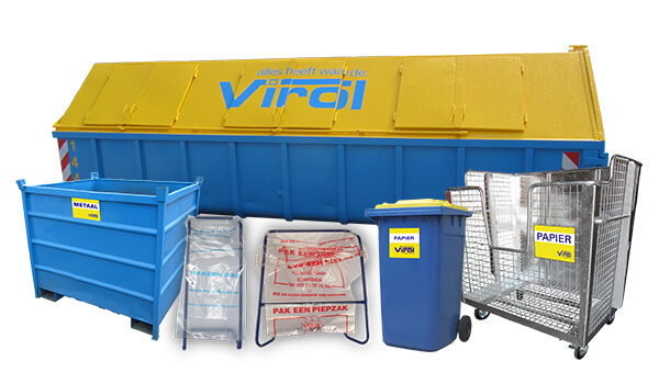 Afvalcontainers Virol